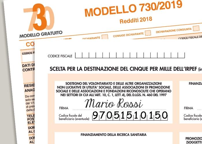 Destinare il 5 per mille a Opera San Francesco con il modello 730